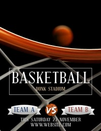 BASKETBALL TOURNAMENT FLYER TEMPLATE Volantino (US Letter)