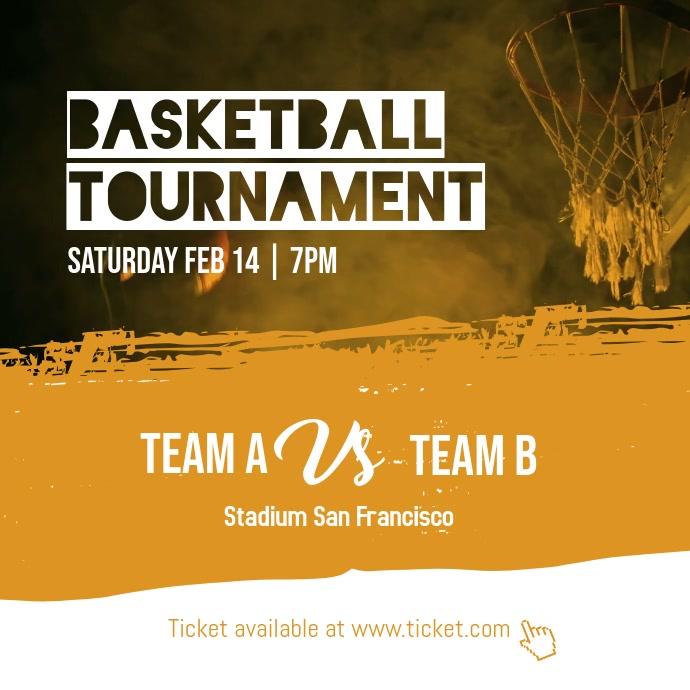Basketball Tournament Instagram Post