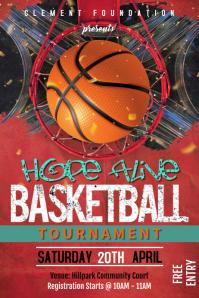 Basketball Tournament poster template