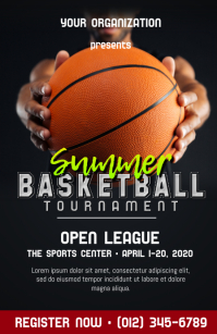 Basketball Tournament Poster Tabloid template