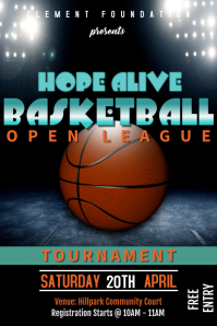 Basketball Tournament poster โปสเตอร์ template