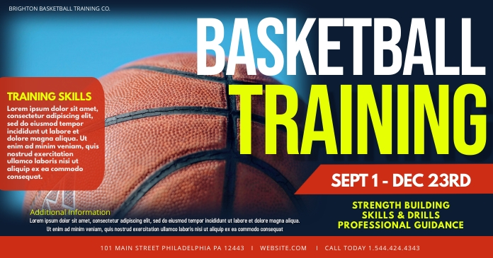 Basketball Training Facebook Shared Image template