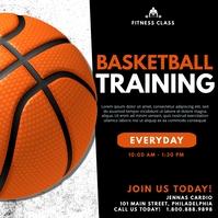 Basketball training โพสต์บน Instagram template