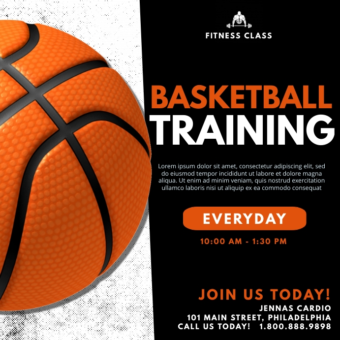Basketball training Instagram Post template