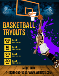 Basketball Tryout Poster