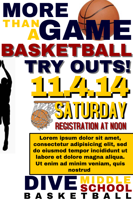 basketball tryout template postermywall