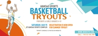 Basketball Tryouts Ad Facebook Cover Photo template