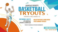 Basketball Tryouts Ad Twitter Post template