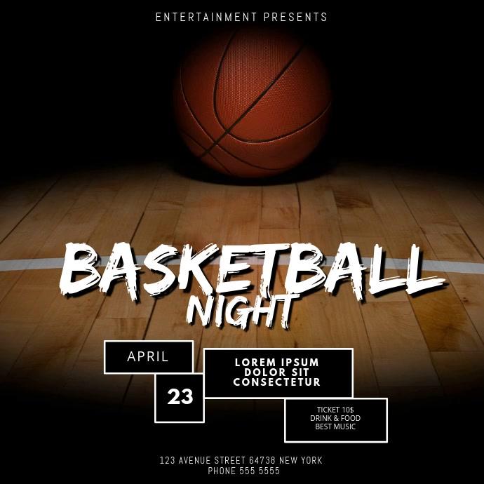 Basketball Video Design Template Instagram