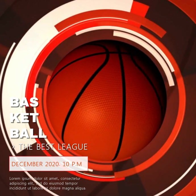 BASKETBALL VIDEO TEMPLATE Square (1:1)