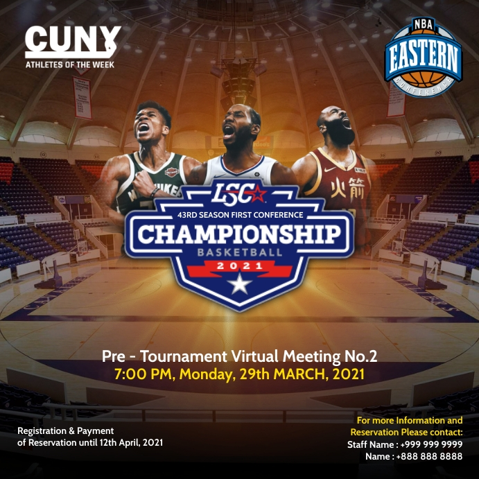 Basketball Virtual Conference 2021 Template Pos Instagram