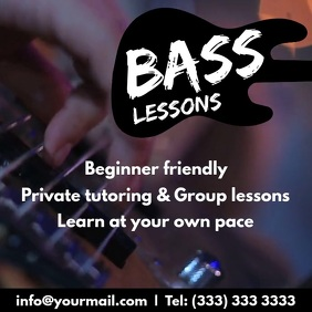 Bass guitar lessons video ad promo
