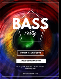 Bass Party Flyer Template