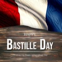 Bastille day, France Day Instagram Post template