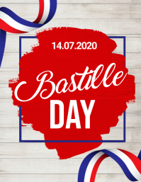 bastille day, happy bastille day Рекламная листовка (US Letter) template
