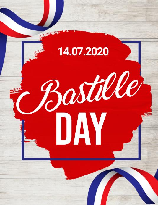 bastille day, happy bastille day Flyer (US Letter) template