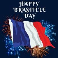 Bastille day,happy bastille day Instagram Post template