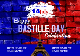 Bastille Day 14th July 5 A2 template