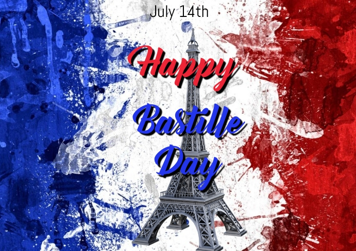 Bastille day 6 A4 template