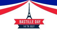 Bastille Day Banner Template Facebook Shared Image