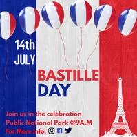 bastille day celebration Instagram-Beitrag template