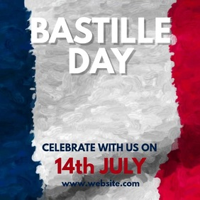 Bastille Day Instagram Post template