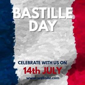Bastille Day โพสต์บน Instagram template