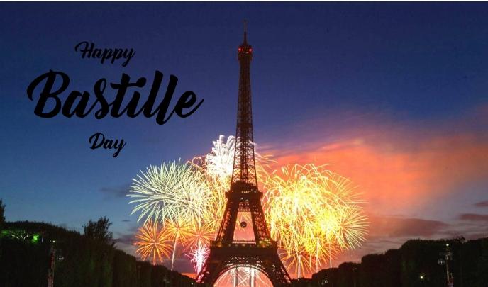 Bastille Day Etiqueta template
