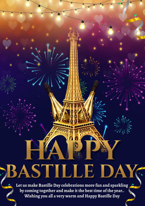 BASTILLE DAY A4 template