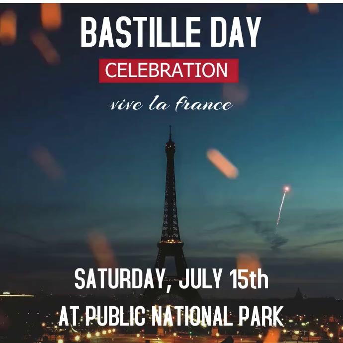 Bastille day Square (1:1) template