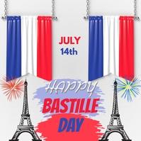 Bastille day Instagram-Beitrag template