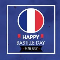 Bastille Day Iphosti le-Instagram template
