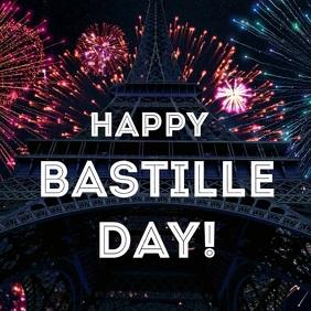 Bastille day Album Cover template