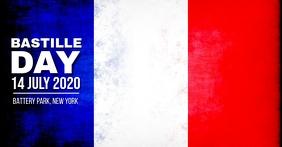 Bastille Day Facebook Shared Image template