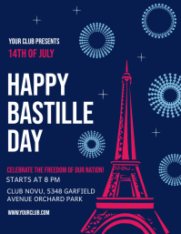 Bastille Day Flyer, Happy Bastille Day