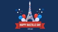 bastille day flyer Twitter Post template