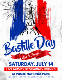 Bastille Day Flyer Folder (US Letter) template