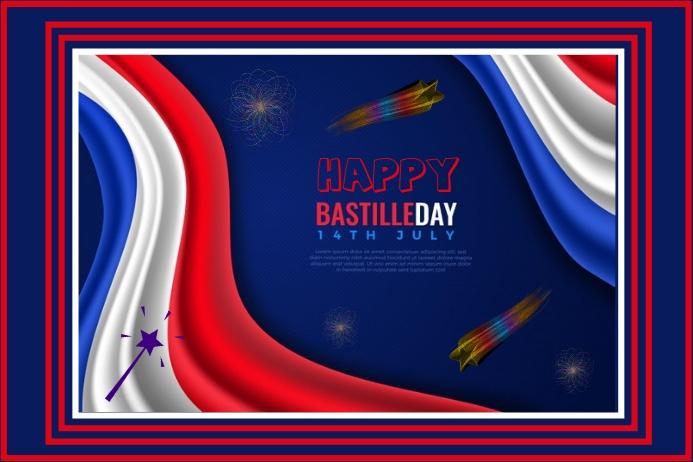 BASTILLE DAY FLYER Label template