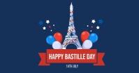 bastille day flyer Facebook Ad template