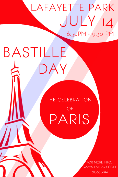 Bastille Day Cartaz template