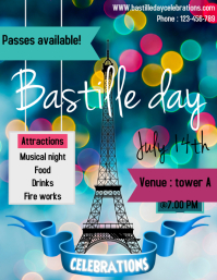 Bastille day flyer/template