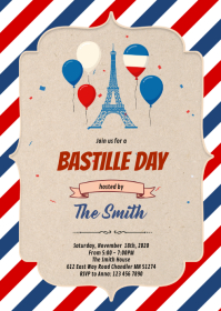 Bastille Day Flyer Template A6
