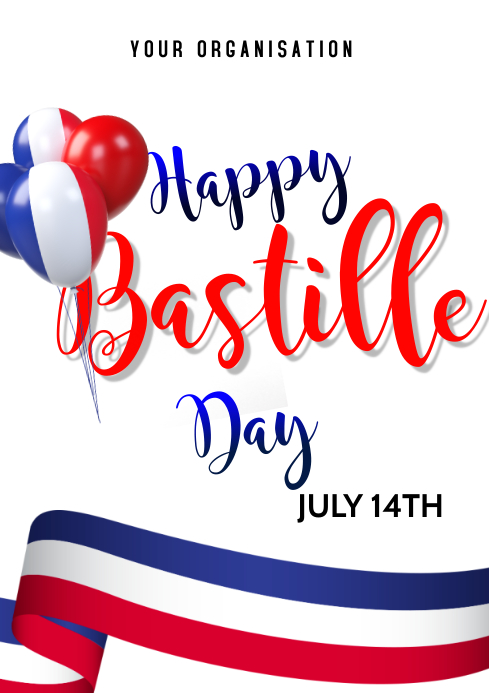 Bastille Day Flyers A3 template