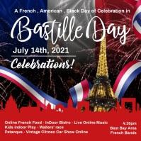 Bastille Day French Celebration Template Square (1:1)