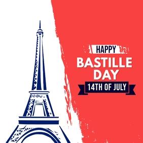 Bastille Day instaram post template