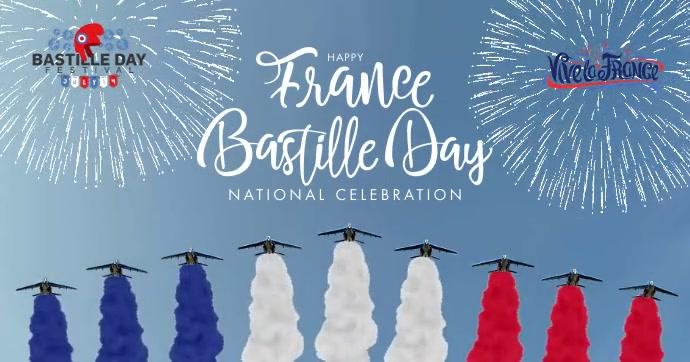 Bastille Day National Celebration Template Gedeelde afbeelding op Facebook