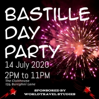 Bastille Day Party Celebration Event Flyer