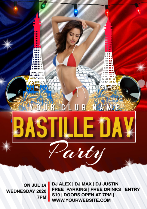 BASTILLE DAY PARTY A4 template