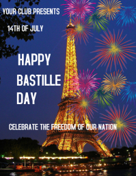 Bastille Day poster Flyer (US Letter) template