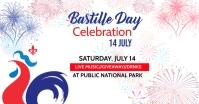 Bastille Day social media post Facebook Shared Image template
